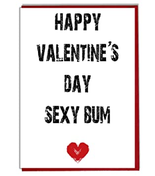 Happy Valentine S Day Sexy Bum Funny Rude Card Amazon Co Uk