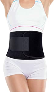 Portzon Waist Trainer for Women, Waist Trainer for Women Weight Loss Everyday wear, Sport Girdle Belt, Exercise & Fitness Waist Belt Adjustable Slimmer Body Shaper