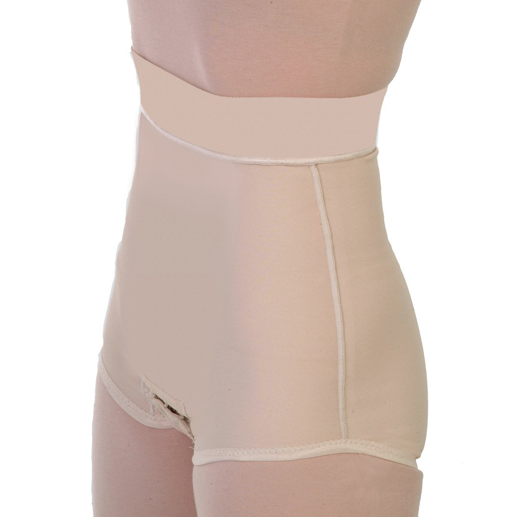 ContourMD Postpartum Belly Wrap - Post Pregnancy Abdominal Panty Girdle with Panel 4in Waist Style 22 Small Beige