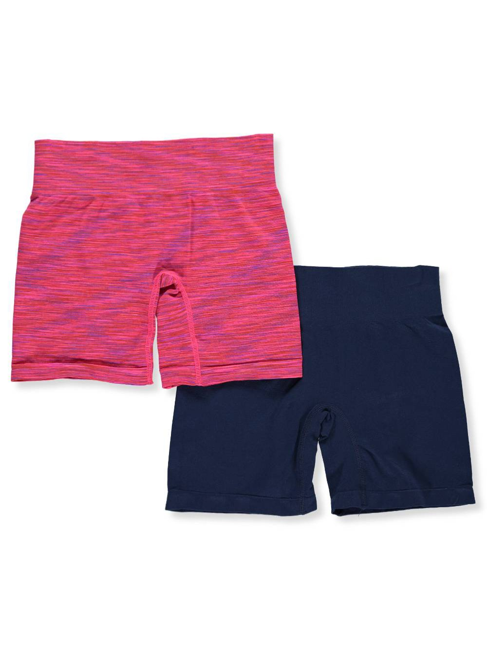 C & C Girls' 2-Pack Seamless Bike Shorts 12-14