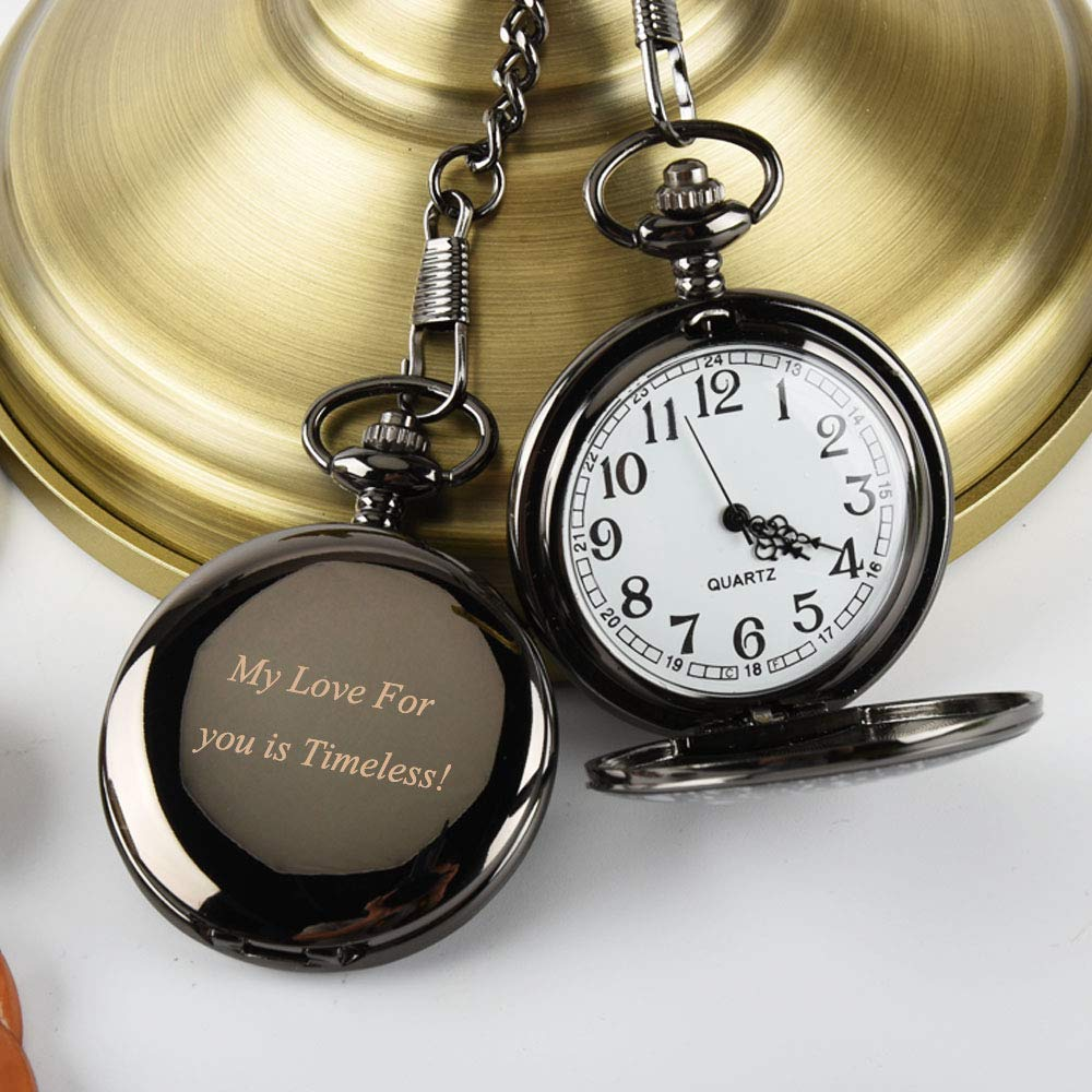 Engraved Pocket Watch Personalized Men Gift, Custom Pocket Watch Groomsmen Gift Also Best Man Gift of Pocket Watch with Monogram, Anniversary Gift for Men