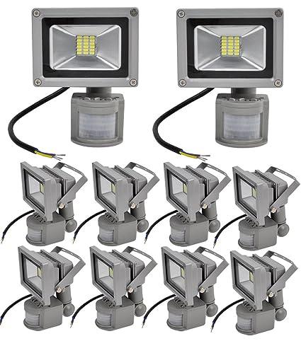 Leetop 20W 30W SMD LED Focos Blanco Frio Reflector Versátil Proyector con Sensor de Movimiento Lámpara