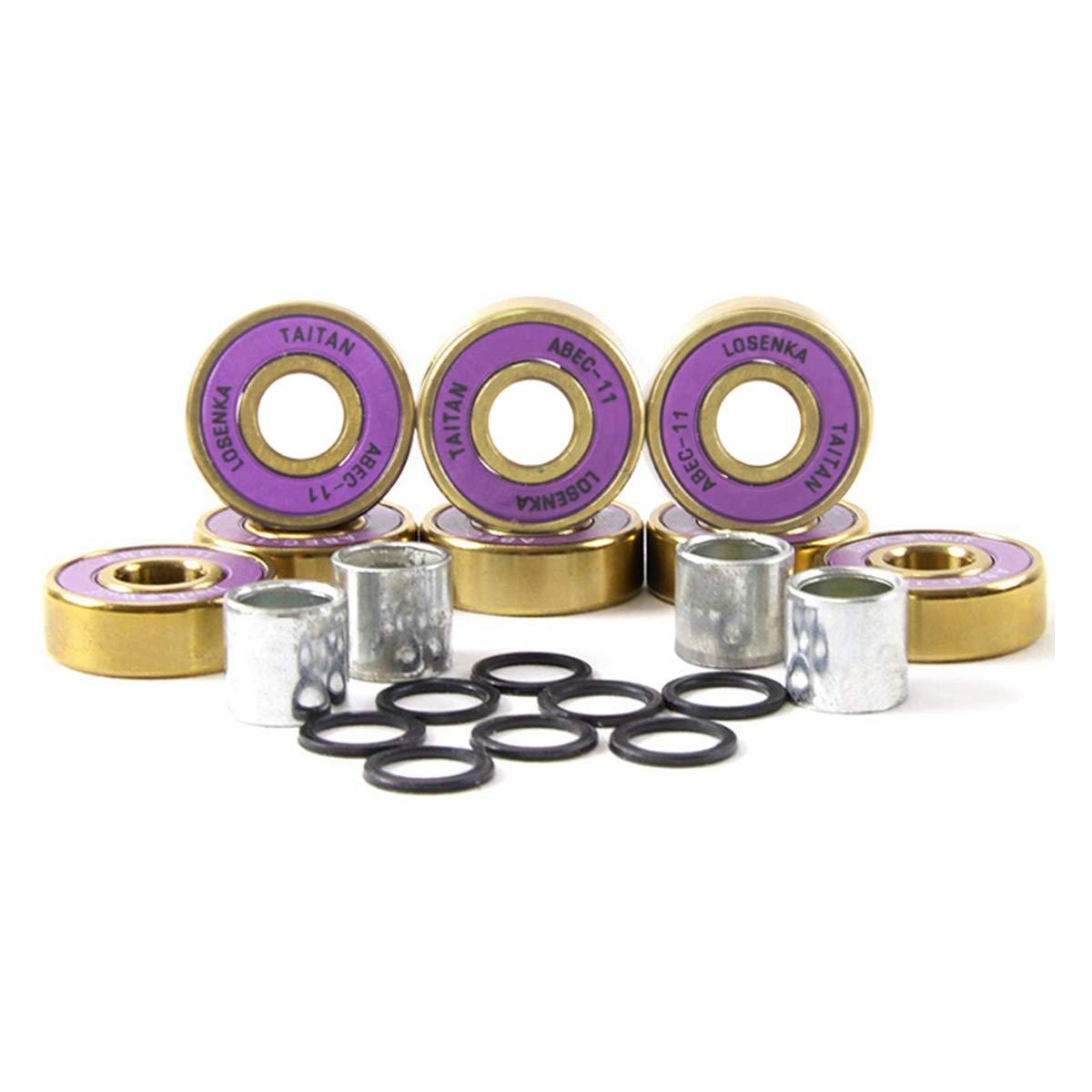 8-Pack LOSENKA Professional Skateboard Bearings Titanium Alloy Process Limit Skateboards,8-Pack Fancy Skateboard Bearings