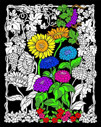 Stuff 2 Color Sunflower Garden - 16x20 Inch Fuzzy Velvet Poster -