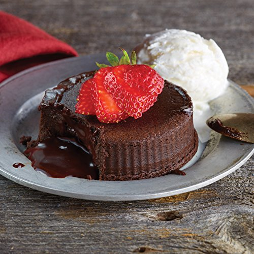Kansas City Steaks 4 Chocolate Truffle Lava Cakes, 4 inches each