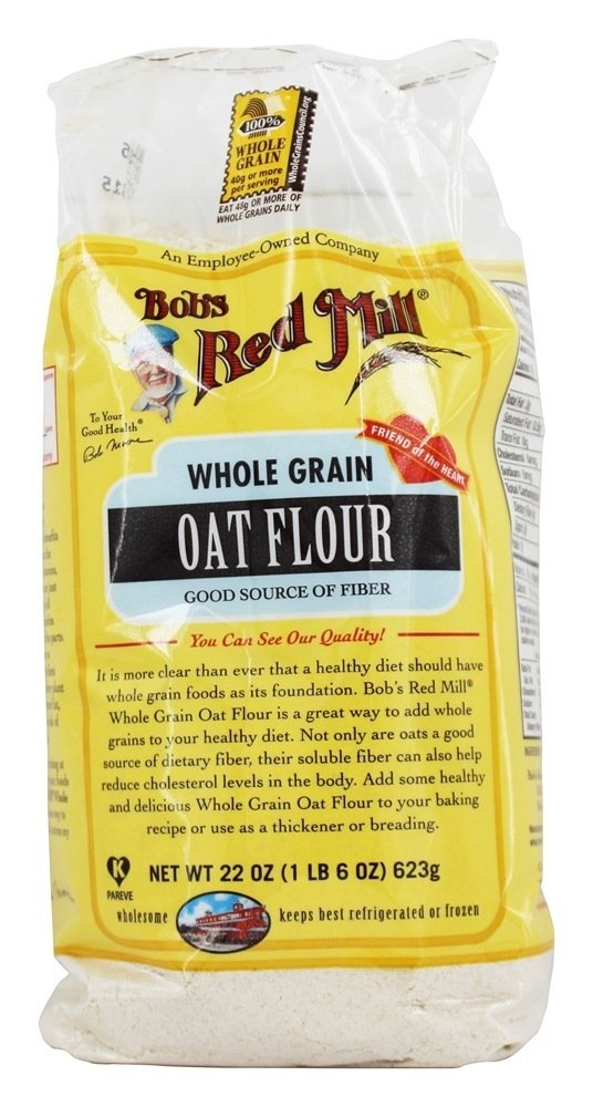 Bob's Red Mill - Whole Grain Oat Flour - 22 oz (pack of 2)