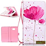 Galaxy S7 Edge Case,S7 Edge Case,Uncle.Y Premium PU Leather Flip Wallet Case Protector Folio Stand Colorful Pattern...