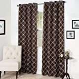 Cheap Lavish Home Myra Room Darkening Curtain Panel, 84″, Chocolate