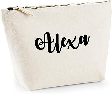 Alexa nombre personalizado lona de algodón bolsa de accesorios de ...