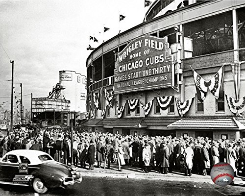 Wrigley Field Chicago Cubs 1945 MLB Stadium Photo (8
