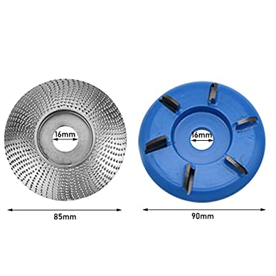 2pc Carbide Wood Sanding Carving Shaping Disc for Angle Grinder/Grinding Wheel for Curved Wood Work: Clothing
