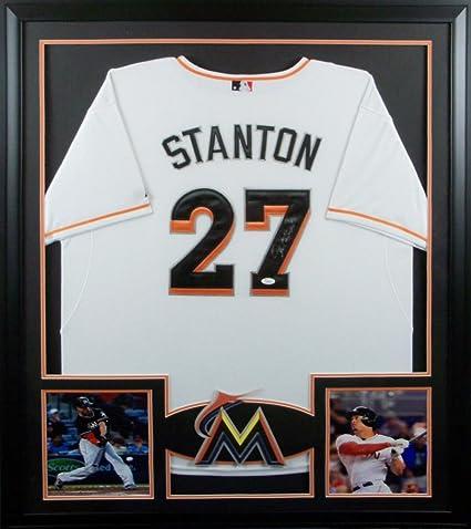 premium selection 97480 8cc6f Giancarlo Stanton Miami Marlins Autograph Signed Custom ...