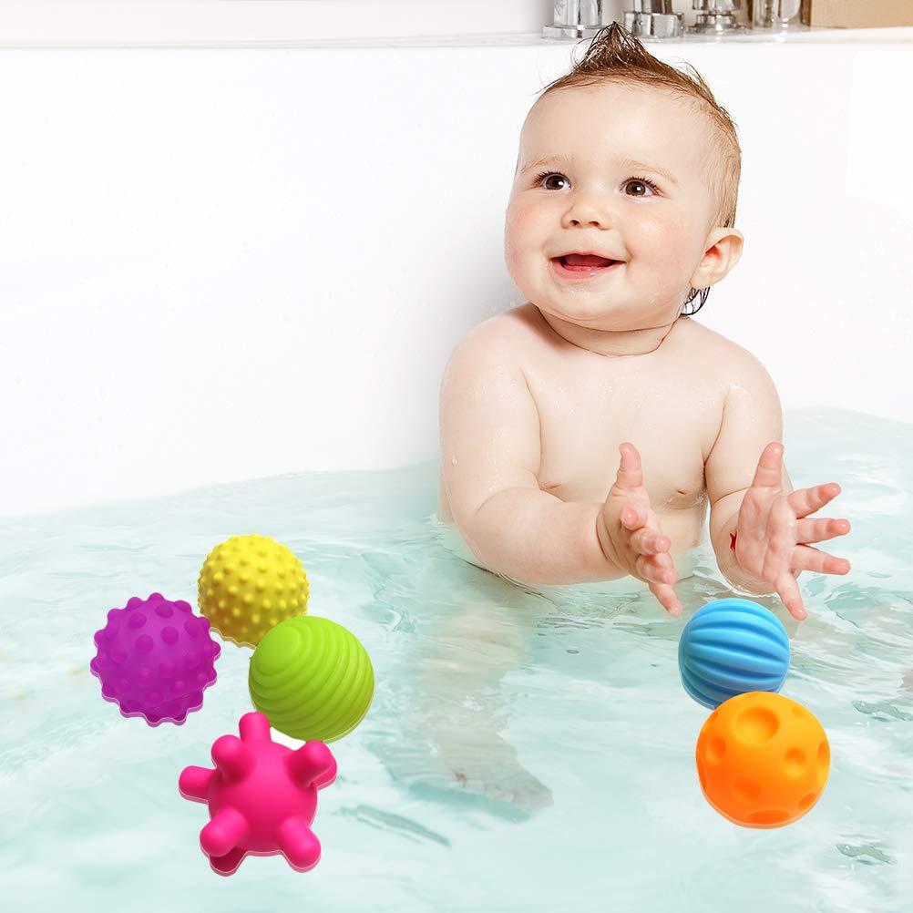 BSMEAN Baby Strukturierte Sensorische Weiche Kugeln, 6PCS