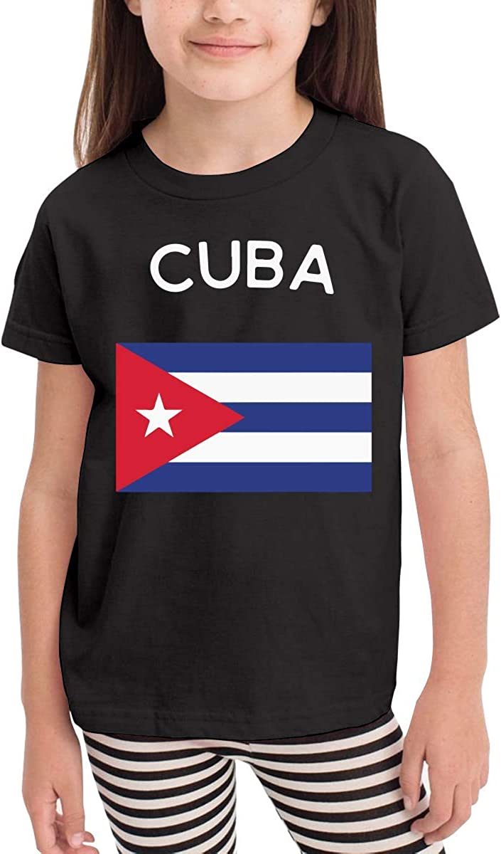 Cuba Flag Novelty Toddler//Infant Short Sleeve Shirt Tee