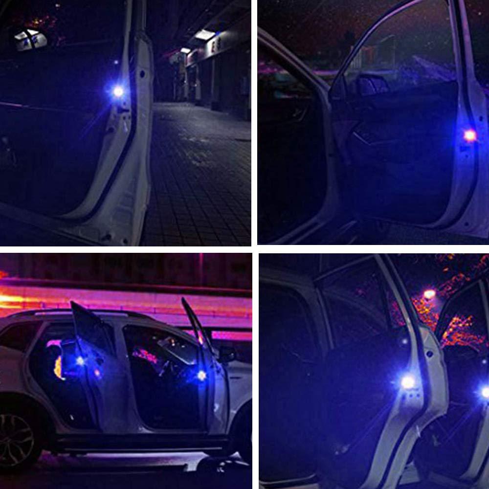 Onerbuy Spia per auto universale 4 spie Spia anti-collisione luci di sicurezza a LED Strobe lampeggiante Apribile a riflettore lampada Auto On//Off con 3 modalit/à di lampeggio