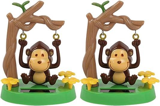 Amosfun 2 Piezas Juguetes de Baile Solar Muñeco Solar de Mono en Columpio Figura de Salpicadero Decoración Adorno para Coche Automóvil Mesa: Amazon.es: Juguetes y juegos