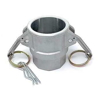 JGB Enterprises 030-02032-832CI Aluminum Type B Cam and Groove Fitting 2 Female Coupler X 2 Male NPT