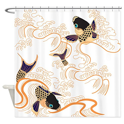 CafePress - Koi - Fish - Tattoo - Asian - Japanese - Decoratio - Decorative Fabric Shower Curtain