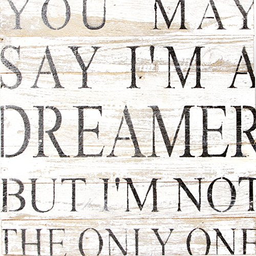 Cheap Second Nature By Hand 14×14 White Reclaimed Dreamer Wood Sign, Medium, Natural Reclaimed
