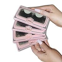 Mikiwi 25mm Mink Lashes, 4 Pack Lashes, Real Mink Lashes, Mink Eyelashes, Dramatic...