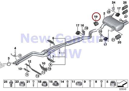 amazon com 4 x bmw genuine exhaust system clamping bush d\u003d65mm 525i E39 528I Smashing