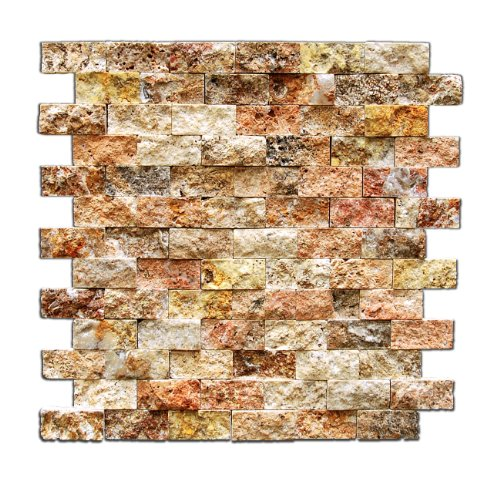 Scabos 1 X 2 Split-Faced Travertine Brick