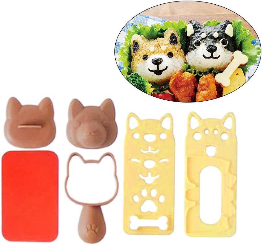 BESTONZON 1 Set Bento Accessories Sushi Mold Rice Ball Mold Cute Puppy Dog Pattern Sushi Bento Nori Rice Decor Sandwich DIY Kitchen Tools for Baby Kids Meal