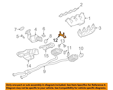 Cadillac GM OEM 09-14 CTS 6.2L-V8-Exhaust Bracket Left 25902026