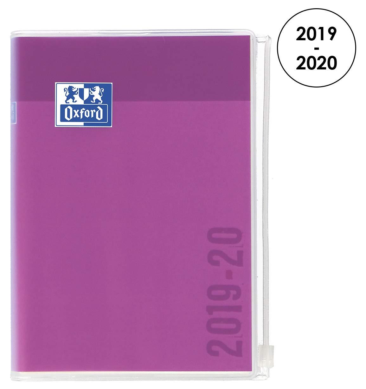 Oxford Creation Zip agenda escolar (años 2018 – 2019 1 día por página 352 páginas 12 x 18 cm amarillo