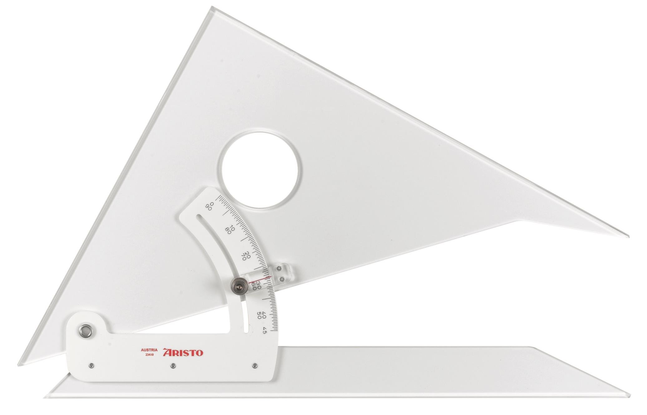 Aristo : Adjustable Set Square : 45 Degrees : 10in by Aristo (Image #2)