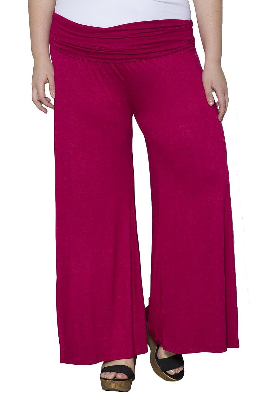 SWAK Womens Plus Size Classic Jersey Pants
