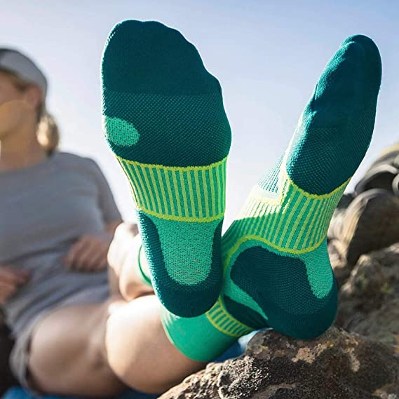 1 Pair of Sports Socks with Functional Zones Instep Comfort Technology Bauerfeind Mens Performance Mid Cut Outdoor Activities Such as Cycling and Hiking