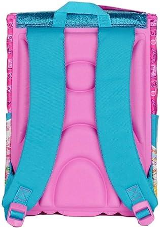 Mochila escolar Winx cartoon hada extensible fucsia + estuche 3 pisos completo + llavero girabrilla y bolígrafo con purpurina + marcapáginas: Amazon.es: Equipaje