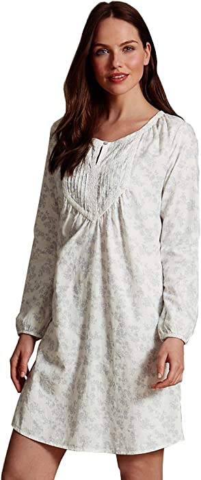 MARKS   SPENCER COLLECTION Pure Cotton Shadow Print Nightshirt T37 ... 073d2972e