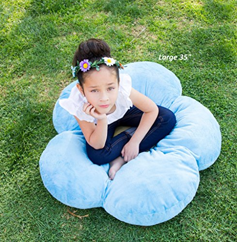 Floor Pillow To Watch Tv : Girls Flower Floor Pillow Seating Cushion, for a Reading Nook, Bed Room, or Watching TV. Softer ...