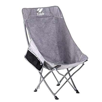 Outstanding High Back Folding Camping Chairs Lightweight Ottoman Portable Compact Seat For Adults Fishing Travel Picnic Festival Hiking Backpacking Ocoug Best Dining Table And Chair Ideas Images Ocougorg