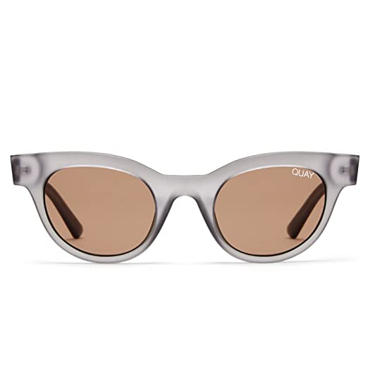 78c419ac411 Quay Australia STAR STRUCK Women s Cat-Eye Sunglasses Quay Kylie -  Gray Brown