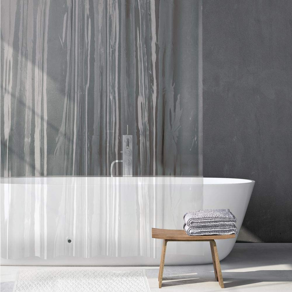 183 cm X 183 cm Odourless Shower Liner - PEVA Shower Curtain Clear Pack of 2 mDesign Shower Curtain Liner No Chemical Smell