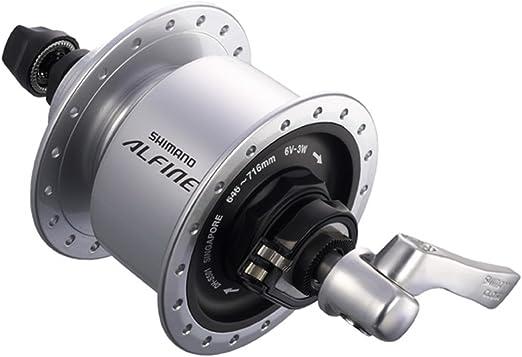 Black Shimano Alfine DH-3D37 Front Hub Dynamo Generator Disc Brake 36H