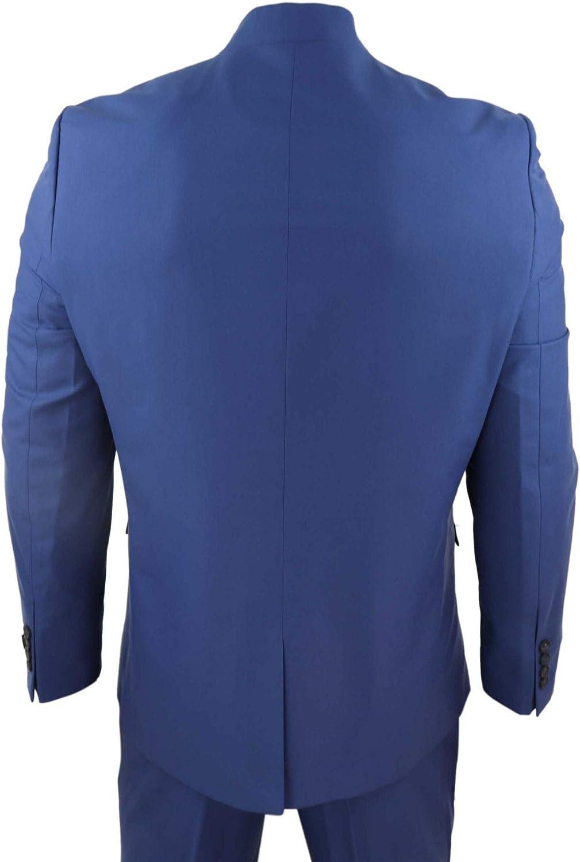 TruClothing.com Mens 3 Piece Nehru Grandad Collar Suit Beatles Indian Tailored Fit Classic