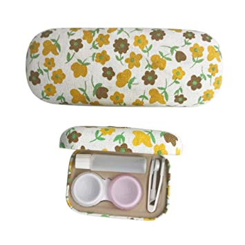 af40c03a77d1 Image Unavailable. Image not available for. Color  Eyeglasses Case Reading  Glasses Case Hard Shell + Contact Lens ...