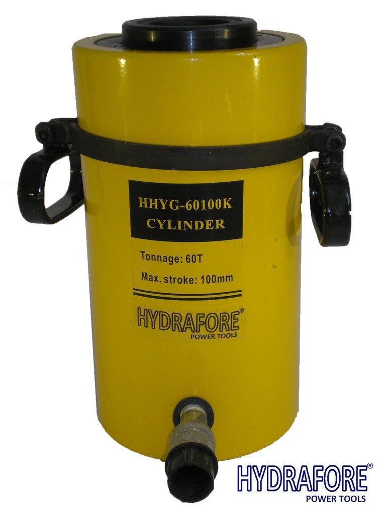 60 tons 4'' stroke Single Acting Hollow Ram Hydraulic Cylinder Jack YG-60100K