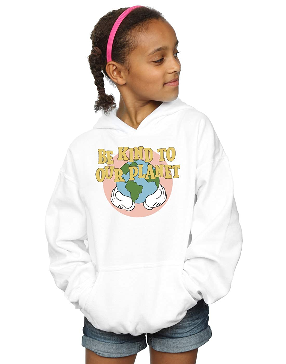 Disney Girls Mickey Mouse Be Kind to Our Planet Hoodie