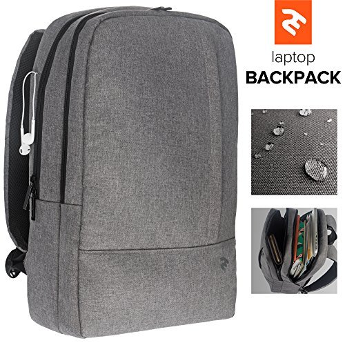 Lightweight Computer Backpack - Stylish Laptop Backpack For Men or Women - Water, Scratch & Tear Resistant Material - Minimalist Business Laptop Backpack for 15,6 inch Laptops & Notebooks