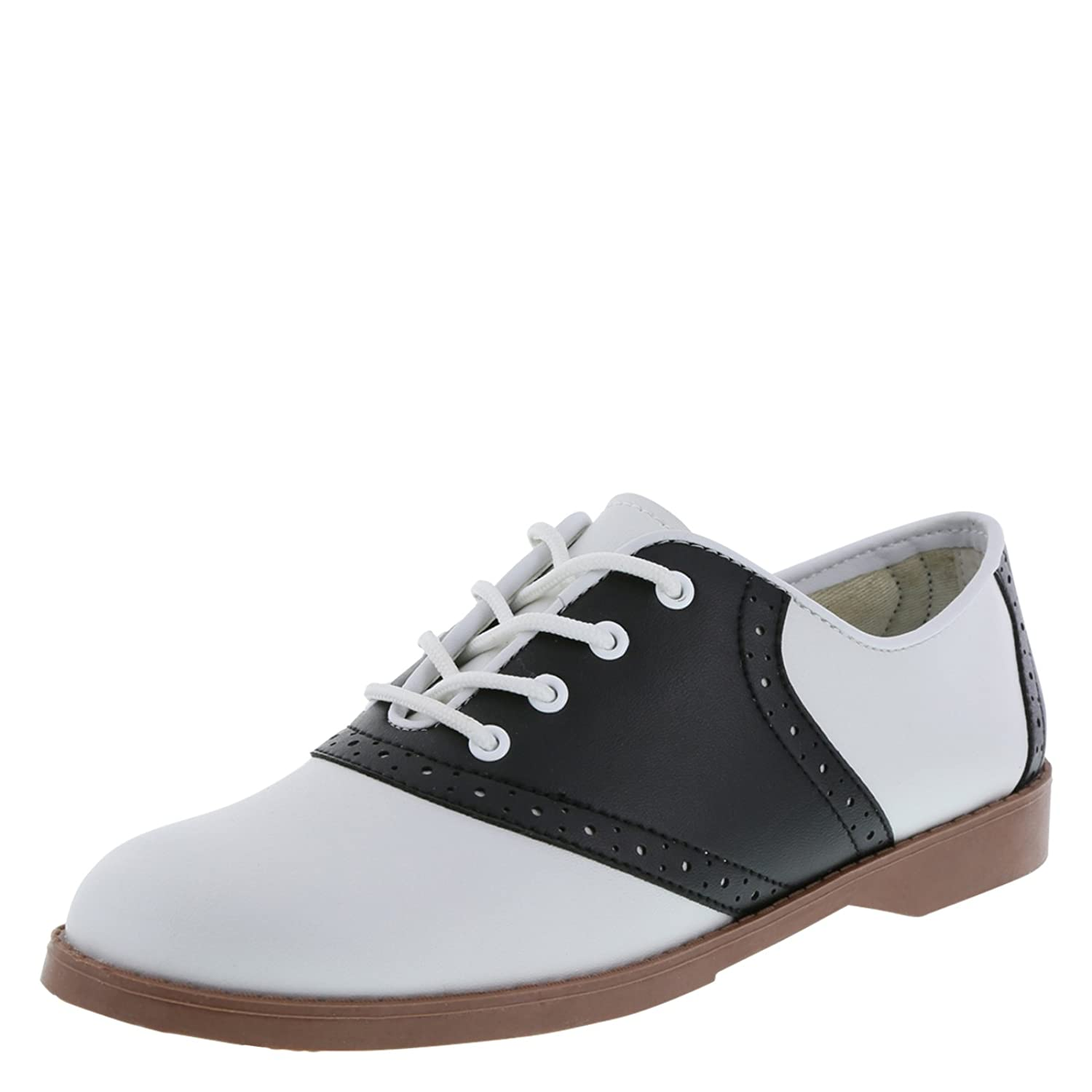 Saddle Shoes: Women's Vintage Black & White Shoes Predictions Womens Saddle Oxford.99 AT vintagedancer.com