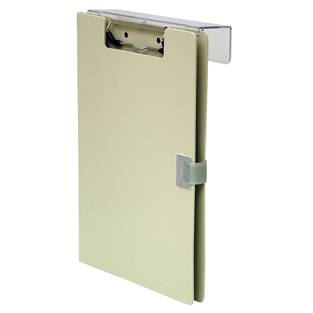 PDC Healthcare PCB603 Clipboard Overbed with Lock, 50 Page Capacity, 10'' x 13'', Beige Poly
