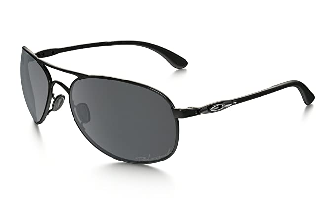 oakley womens sunglasses given  oakley women's given polarized polished black/black iridium sunglasses