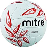 Mitre Shooter Match Netball  - White/Red/Grey - 5
