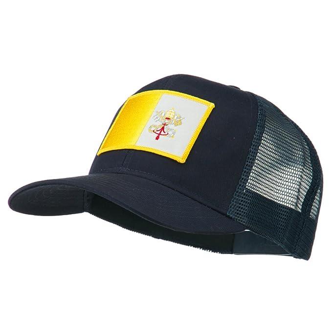b927361033f E4hats Vatican City Flag Patched Mesh Cap - Navy OSFM at Amazon ...