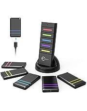 Esky RF Item Finder - Ricevitore chiave senza fili con telecomando, 1 trasmettitore RF e 5 ricevitori ricaricabili, colore: Nero